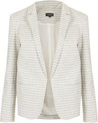 Topshop Stripe Jersey Blazer - Lyst