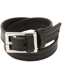 Dior Homme   Double Wrap Leather Bracelet   Lyst