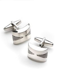 Kenneth Cole Reaction Concave Cufflinks - Lyst