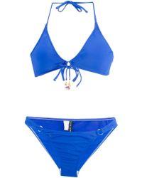 092d92a4f5216 Ralph Lauren Blue Label - Playa Solids Bikini - Lyst
