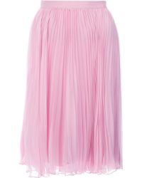 Ralph Lauren Blue Label Pleated Midi Skirt - Lyst
