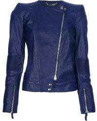 Roberto Cavalli Zipped Jacket blue - Lyst