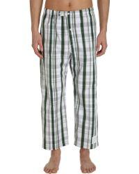 Thom Browne - Cropped Plaid Pyjama Trousers - Lyst