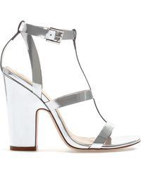 Zara Shiny Strappy Sandal - Lyst