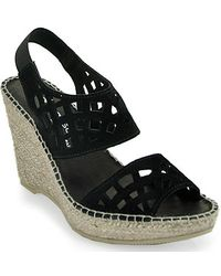 Andre Assous   Denise Cut Out Slingback Wedge Espadrille in Black   Lyst