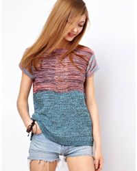 ASOS Collection Asos Blocked Knitted Tee - Lyst