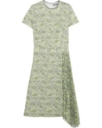 Mulberry Cottonblend Lace Dress - Lyst