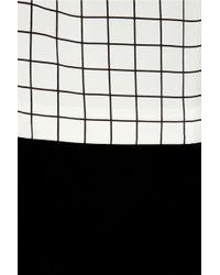 Callula Lillibelle - Minzy Gridprint Silkcharmeuse Dress - Lyst