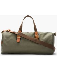 Marc By Marc Jacobs Large Olive Green Leathertrimmed Canvas Duffle green - Lyst