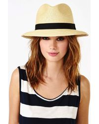 Nasty Gal Panama Hat Tan - Lyst