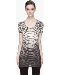 Silent - Damir Doma - Washed Black and Ivory Thevetia Print Basic T-Shirt - Lyst