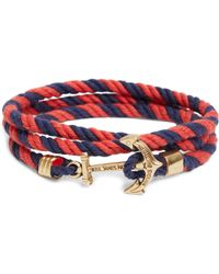 Brooks Brothers Kiel James Patrick Lanyard Hitch Cord Bracelet blue - Lyst