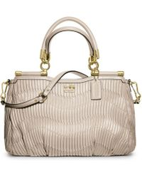 Coach Madison Gathered Leather Carrie - Lyst
