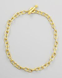 Elizabeth Locke - Volterra 19k Gold Link Necklace - Lyst