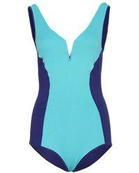 Lanvin - Two Tone Swimsuit - Lyst