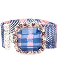 Marc By Marc Jacobs - Crystal Bead Embellished Mesh Bracelet - Lyst