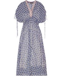 Vineet Bahl - Embellished Chiffon Maxi Dress - Lyst