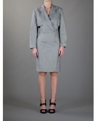 Alaïa - Houndstooth Skirt Suit - Lyst