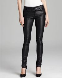 Alice + Olivia Pants Leather Skinny - Lyst