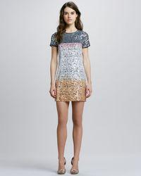 Diane von Furstenberg Barbie Sequin-Embellished Silk Dress - Lyst
