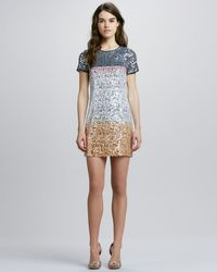 Diane von Furstenberg Barbie Sequin-Embellished Silk Dress multicolor - Lyst