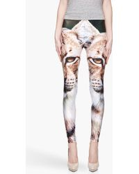 We Are Handsome - Green and Tan Traveller Lynx Leggings - Lyst