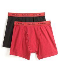 Calvin Klein Twopack Cotton Stretch Boxer Briefs - Lyst