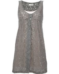 Odd Molly Silver Twine Dress - Lyst