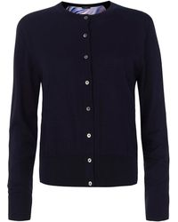 Paul Smith Black Label Navy Hazy Swirl Back Panel Cardigan - Lyst