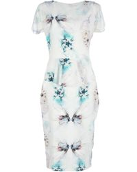 Project D - Gretel Floral Peplum Dress - Lyst