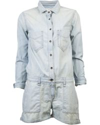 Rag & Bone Chambray Reading Playsuit blue - Lyst