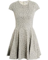 Lover Leopard-Print Leather Dress - Lyst