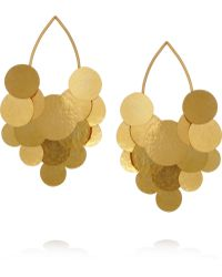 Herve Van Der Straeten - Pastilles Hammered Goldplated Earrings - Lyst