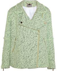 Mulberry - Oversized Cotton tweed Biker Jacket - Lyst