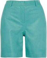 Richard Nicoll - Nappa Leather Shorts - Lyst
