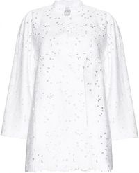 Valentino Embroidered Jacket with Cut-Out Detail white - Lyst