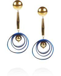 Marni Brass Horn Clip Earrings - Lyst