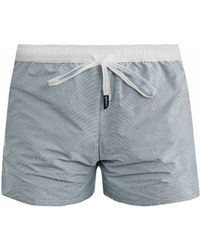 Myo - Oxford Check Swim Shorts - Lyst