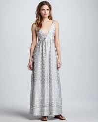 Pencey Printed Open-Back Maxi Dress - Lyst