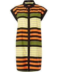 Pied A Terre Silk Stripe Shirt Dress - Lyst