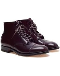 Alden Lace Up Cordovan Boots - Lyst