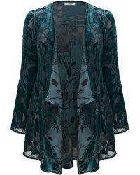 Ann Harvey   Emerald and Black Devore Leaf Jacket   Lyst