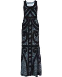 Carolina Herrera Embroidered Sleeveless Gown - Lyst
