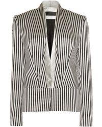 Haider Ackermann Bartas Striped Jacket white - Lyst