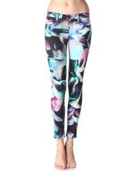 J Brand Floral Print Skinny Jeans - Lyst