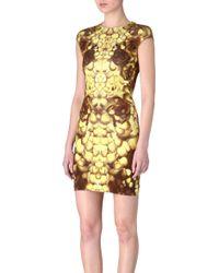 McQ by Alexander McQueen Rose Petal Dress - Lyst
