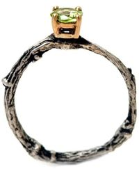 Michelle Oh Peridot Twig Solitaire Ring - Lyst