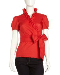 Studio 148 By Lafayette 148 New York - Salem Linen Ruffle Blouse - Lyst