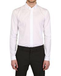 Dior Homme Cotton Poplin Button Down Shirt white - Lyst