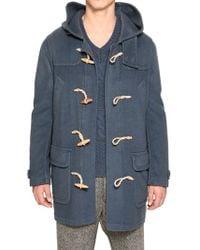 Iceberg - Cashmere Belnd Wool Cloth Duffle Coat - Lyst